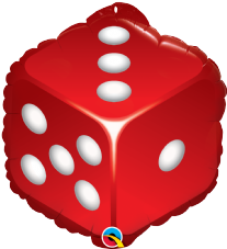 Red Dice Foil Balloon